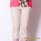 Kinloch Anderson金安德森   飾釦活褶七分褲- 卡其色