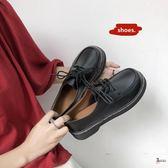 娃娃鞋 日系復古女平底單鞋學生原宿圓頭娃娃鞋百搭韓版學院風英倫小皮鞋 2色35-39