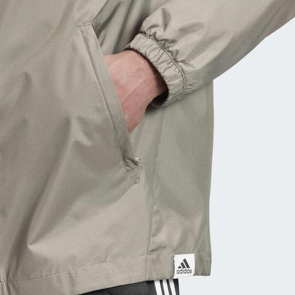 ADIDAS BRILLIANT BASICS NEO 男裝 外套 連帽 防風 防撕裂 拉鍊口袋 綠【運動世界】GD3839