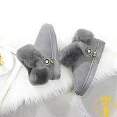 雪地靴女防滑韓版底棉靴加厚加絨短筒棉靴【雲木雜貨】