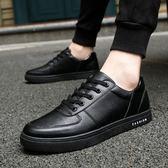 皮鞋 夏季防滑板鞋黑色男鞋子酒店廚師上班耐磨防水休閒皮鞋廚房工作鞋  果寶時尚