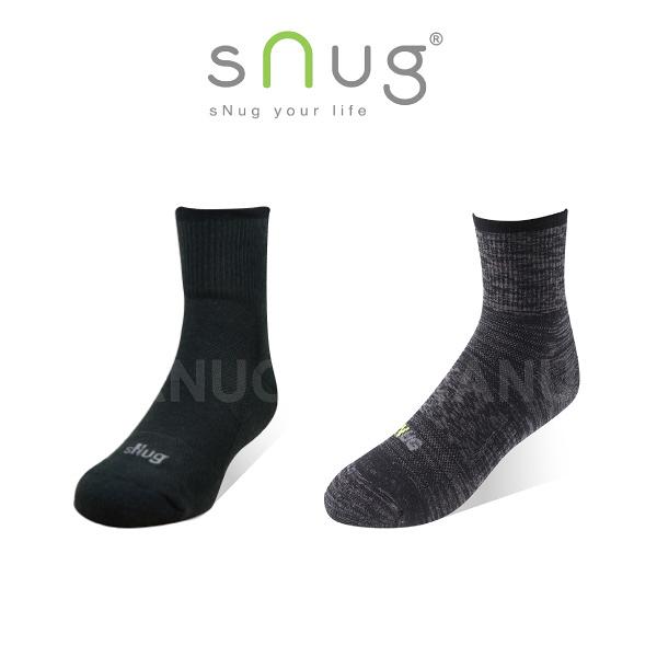 任選6件 結帳8折【sNug】動能氣墊運動襪 (除臭襪/無痕襪口)