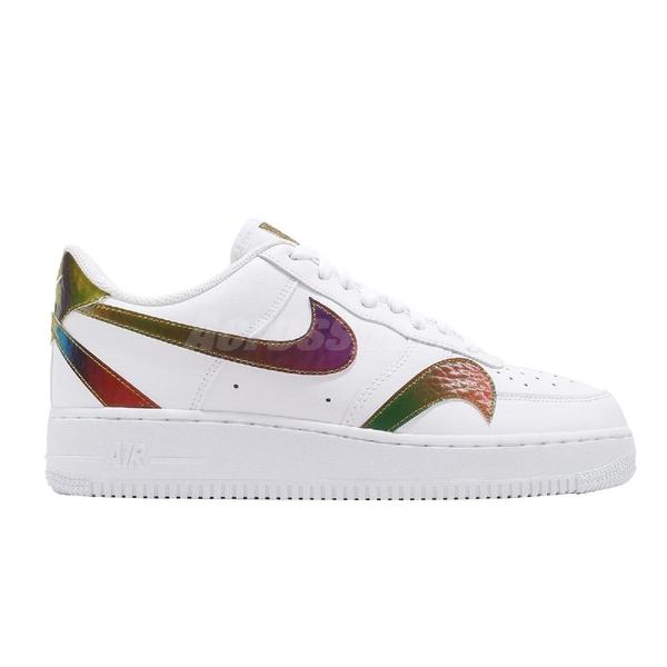 Nike 休閒鞋 Air Force 1 07 LV8 2 Misplaced Swooshe 白 彩色 男鞋 運動鞋 【ACS】 CK7214-101