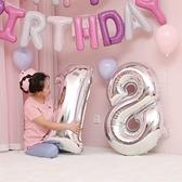 買二送一 寶寶滿月布置用品兒童生日派對裝飾數字鋁膜氣球【英賽德3C數碼館】