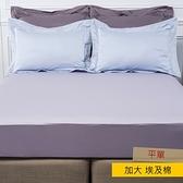 HOLA 艾維卡埃及棉素色平單 加大 紫色
