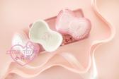 ♥小花花日本精品♥LE CREUSETx三麗鷗品牌合作KITTY大蝴蝶結造型烤皿烤盅烤盤一組附底盤二色