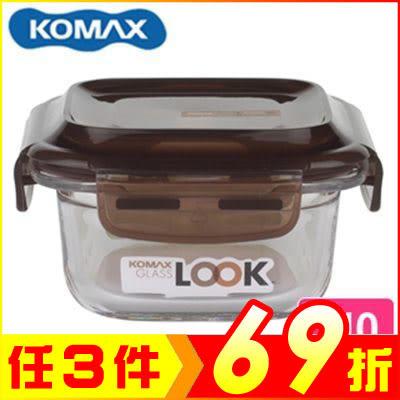 韓國 KOMAX 巧克力方形強化玻璃保鮮盒210ml 59070【AE02249】JC雜貨