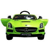 賓士Benz 原廠授權 SLS 影音版兒童電動車 烤漆綠