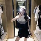 休閒短袖運動套裝女2021新款夏季小個子潮氣質炸街短褲兩件套 維多原創