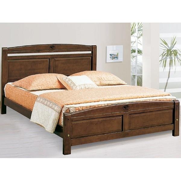 床架 床台 AT-580-4 安麗胡桃色6尺雙人床 (不含床墊) 【大眾家居舘】