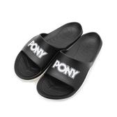 PONY PARK-X 雙色運動拖鞋 黑白 92U1FL07BK 男鞋 鞋全家福
