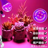 植物燈 家用e27螺口多肉植物燈補光燈泡紅外led生長燈上色全光譜室內盆景220V『快速出貨』