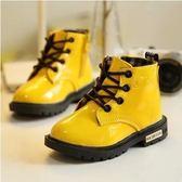 秋7兒童雪地靴男女童皮鞋11馬丁靴10小女孩5公主單鞋子9寶寶8歲12   全館免運