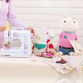 縫紉機505A帶鎖邊吃厚多功能縫紉機家用電動臺式縫紉機迷你『夢娜麗莎精品館』YXS