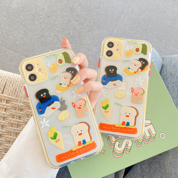 iPhone11ProMax 蘋果手機殼 可掛繩 韓國Brunch早午餐兄弟 矽膠軟殼 iX/i8/i7/SE