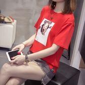 韓版棉質學生休閒圓領上衣XL-4XL中大尺碼24115夏裝加肥加大碼女裝胖mm短袖T恤胖妹妹半袖打底衫