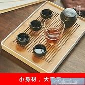 茶盤竹制茶盤家用簡約功夫茶具日式簡易幹泡茶臺迷你茶海儲水竹小托 快速出貨YYP