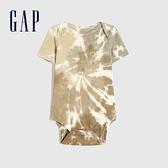 Gap嬰兒 純棉紮染短袖包屁衣 683905-紮染