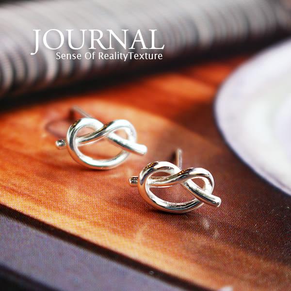 925純銀 愛心 德國結 針式耳環_質物日誌Journal