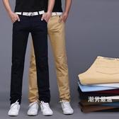 長褲 夏季新品休閒褲男修身正韓潮流黑色大尺碼直筒褲子30-38