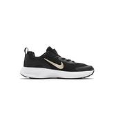 Nike WearAllDay (PS) 中童 黑 金 魔鬼氈 舒適 運動 慢跑鞋 CJ3817-005