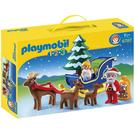摩比積木 playmobil 123 小聖誕老公公雪橇