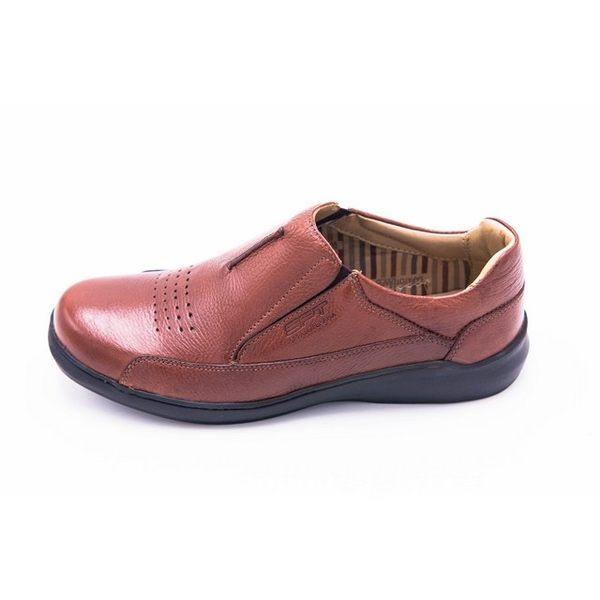 SAPATOTERAPIA 巴西有機休閒透氣皮鞋男鞋-棕