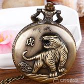 懷錶復古翻蓋鏤空學生項鍊掛錶懷舊數字式老人石英錶    ciyo黛雅