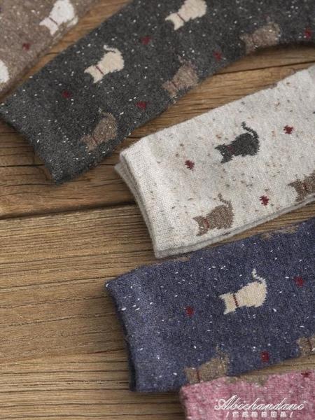 中長襪子女中筒襪ins潮日系可愛韓版秋冬季羊毛加厚保暖韓國長筒 黛尼時尚精品
