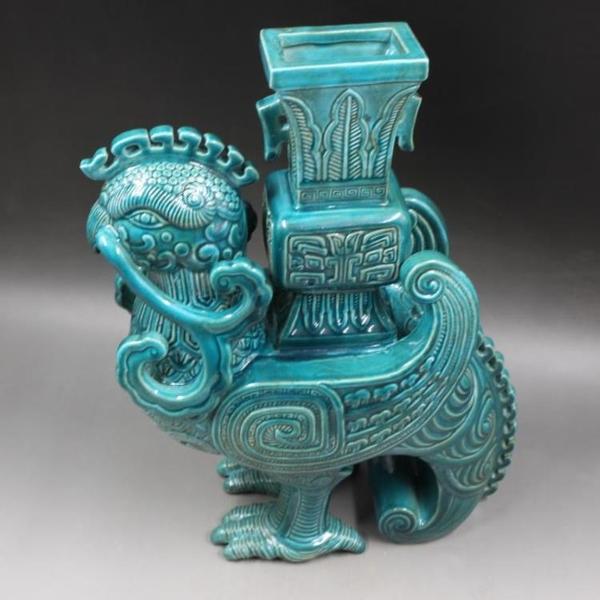 大清乾隆年制雕刻筆修擺件 手工仿古老貨瓷器 家居擺件 古董古玩1入