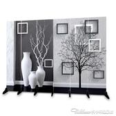 屏風隔斷客廳歐式簡易移動折疊玄關辦公雙面布藝簡約現代臥室折屏YYJ 阿卡娜