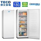 TECO東元180L窄身美型直立式冷凍櫃 RL180SW~含拆箱定位
