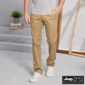 【JEEP】美式休閒直筒長褲(卡其)