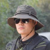 夏季釣魚登山帽遮陽帽子男士春秋漁夫帽 免運
