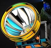 手電筒 led頭燈強光充電頭戴式超亮疝氣手電筒小戶外黃光感應夜釣魚礦燈【快速出貨八折優惠】