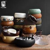 陶迷筆洗茶洗茶渣桶大號陶瓷家用玻璃洗