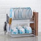 廚房置物架雙層瀝水碗碟架放碗筷瀝水架碗架...