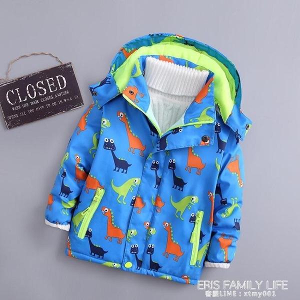 2020兒童春秋款加絨加棉上衣男童女童冬季透氣加厚童裝沖鋒衣外套 艾瑞斯