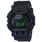 【CASIO】 G-SHOCK 人氣霧面跳色街頭造型錶-黑X綠色液晶螢幕(GD-400MB-1)