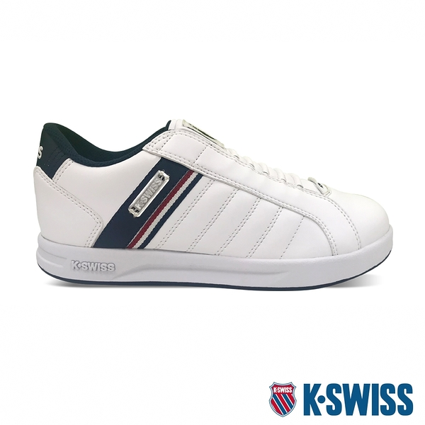 K-SWISS Lundahl Slip-On S CMF鞋套式運動鞋-男-白/藍/紅