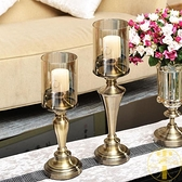 新古典歐式美式擺設餐桌擺件浪漫燭光晚餐燭台【雲木雜貨】