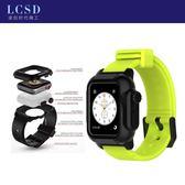 雙12潛水錶 新款iwatch2/3潛水殼 iwatch防水殼硅膠錶帶 一體帶 運動爆款熱賣 卡菲婭