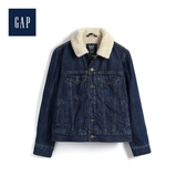 Gap男童人造羊毛絨內裏牛仔外套514612-水洗深靛藍