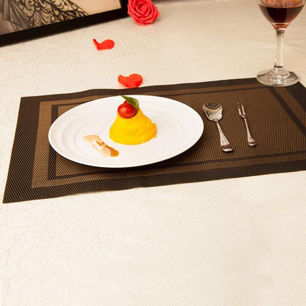 PUSH!餐具用品隔熱80度西餐墊防滑餐墊餐桌墊子杯墊A款2入 E53