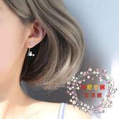 一件免運-小麋人仙氣森林系甜美白鴿小鳥S925純銀耳釘後掛式耳環創意配飾女