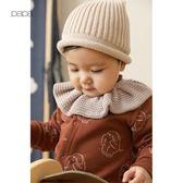 秋冬男女寶寶毛線帽子男女童護耳棉帽嬰兒針織毛線帽 薇薇