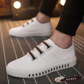 帆布鞋男學生小白鞋套腳懶人韓版潮流一腳蹬休閒男鞋百搭板鞋