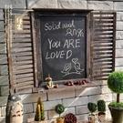 歐式美式鄉村田園酒吧咖啡店鋪復古假窗戶木質黑板裝飾墻壁飾掛飾 【618特惠】