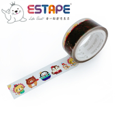 【ESTAPE】Squly 裝飾膠帶|歡樂遊行(18mm x 6M/手帳/裝飾)