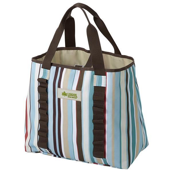 [LOGOS] 條紋裝備袋藍 M 50X21cm (LG73189014)